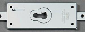 Les serrures Viro série8270 peuvent être munies de n'importe quel cylindre ou demi-cylindre à profil européen, ce qui rend possible n'importe quel matriçage (création de systèmes à clé maîtresse avec d'autres cylindres existants).