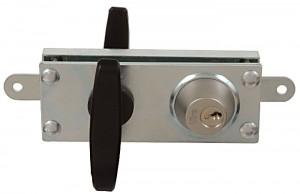 La serrure blindée Viro 8217, avec 2 plaques de protection en acier zingué de 5 mm d'épaisseur totale.