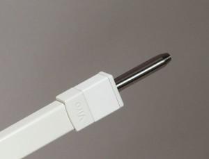 Les pênes dormants de la barre de sûreté universelle Viro sont en acier massif et ont un diamètre de 14 mm.