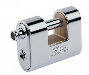Un cadenas blindé pour rideaux, comme le Viro Panzer, est nettement plus résistant qu'un cadenas ordinaire.