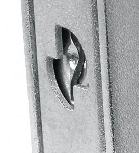 Le blindage permet d'insérer une platine anti-perçage pour protéger la serrure.