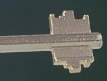 Le profil d'une clé à double panneton peut être facilement reproduit.