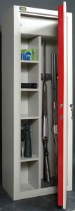 Le coffret d'une armoire porte-fusils Viro