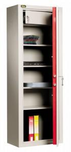 Une armoire porte-documents Viro avec des étagères pouvant facilement loger même les volumineux classeurs à anneaux.