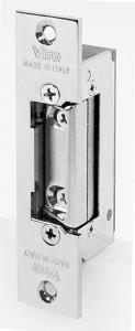 Gâche réversible symétrique Viro, adaptée pour des portes à ouverture à droite ou à gauche, à tirer ou à pousser.