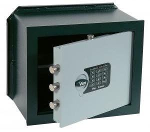 Coffre-fort à combinaison électronique, version horizontale à encastrer, Viro Privacy.