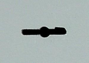 Exemple de fente pour l'introduction des clés à double panneton.
