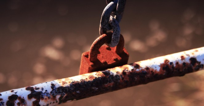 rusty padlock by flickr-ChodHound